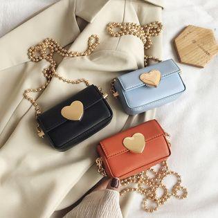 Nueva moda coreana salvaje flip crossbody bolsa marea femenina cadena de verano amor mini hombro monedero nihaojewelry al por mayor NHPB216888