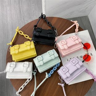 korean fashion personality mini  new summer simple candy color shoulder messenger messenger bag nihaojewelry wholesale NHPB216893's discount tags