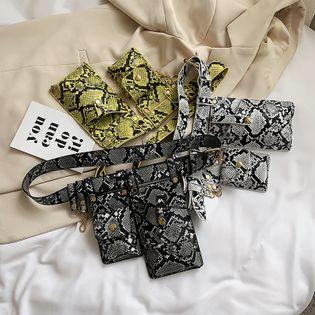 verano coreano simple y versátil bolso de hombro ancho bolso de mujer patrón de serpiente de moda extranjera mini bolso de bandolera nihaojewelry al por mayor NHPB216912