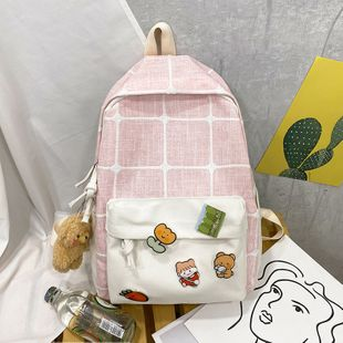 new tide fashion cartoon Korean version wild canvas casual student backpack wholesale inhaojewerly NHTC216931's discount tags