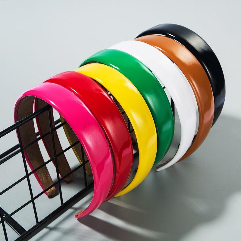 Korean fashion simple  hairpin pu leather  cheap headband nihaojewelry wholesale NHLN216974