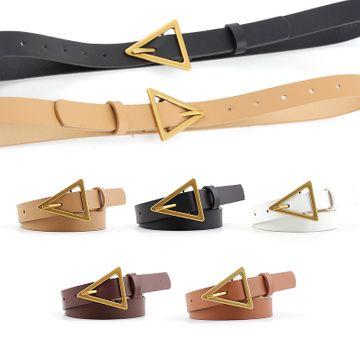 Nueva moda coreana triángulo cinturón mujeres vestido salvaje vestido cinturón decoración triángulo hebilla casual jeans cinturón delgado nihaojewelry al por mayor NHPO216319