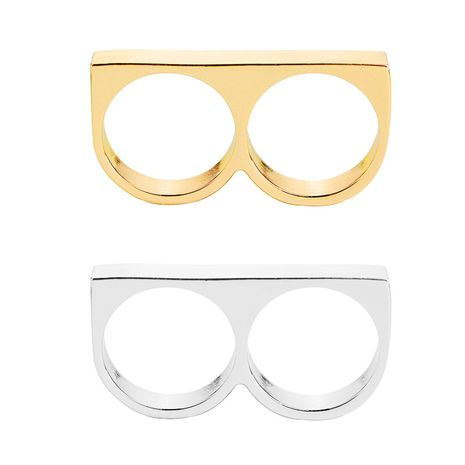 fashion exaggerated punk men's hip-hop ring letter B-shaped ring wholesale NHMO217046's discount tags