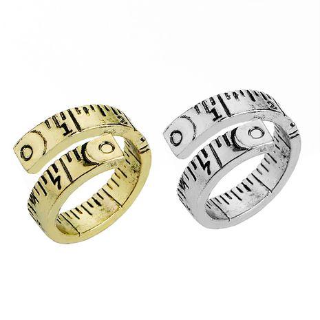 mode rétro nouvelle bague tendance numérique ruban à mesurer dames accessoires de bague en gros NHMO217054's discount tags