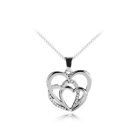 Collier Explosion Collier Amour Creux Irrégulier Amour Épissage Chandail Incrusté De Diamants Sauvages NHMO217056's discount tags