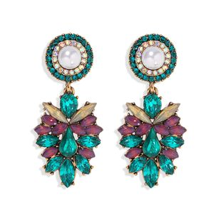 fashion exaggerated retro ethnic style diamond earrings long new products hot sale earrings wholesale NHJQ217075's discount tags