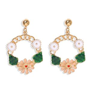 Earrings, small fresh forest, summer sweet and cute little daisy flower earrings, cross-border new products, hot wholesale NHJQ217077's discount tags