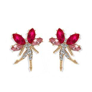 Fashion creative multi-color flower fairy elf alloy earrings diamond earrings  hot jewelry wholesale NHJQ217084's discount tags