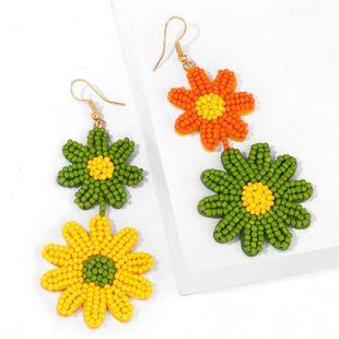 Small daisy earrings rice beads earrings flower earrings women temperament net red earrings super fairy ear jewelry earrings NHAS217087's discount tags