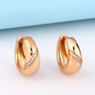 Korean copper earrings original fashion design diamond zircon ladies earrings NHAS217091's discount tags