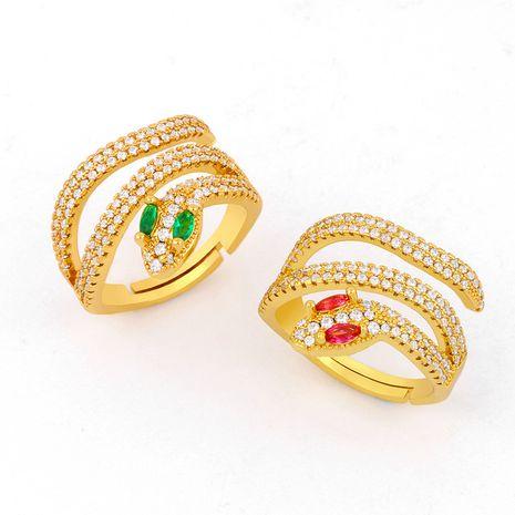 modèles accessoires bague créatrice personnalité bague serpentine micro-set zircon anneau ouvert en gros NHAS217092's discount tags