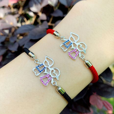 bracelet creative personality diamond bracelet boy girl couple bracelet red rope bracelet NHAS217097's discount tags