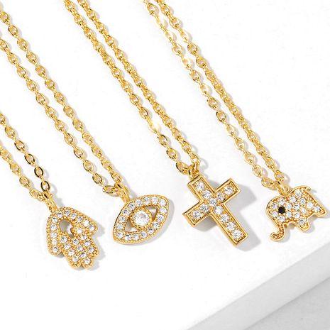 New accessories necklace pendant cross necklace niche design diamond necklace NHAS217102's discount tags