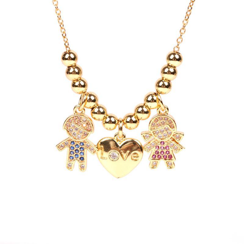 New Hot Selling Zirconium Necklace Creative Love English Alphabet Pendant Necklace NHPY217125