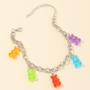 jewelry wholesale sweet and lovely resin bear anklet color bear pendant bracelet wholesale NHNZ217147