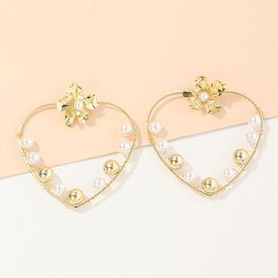 Fashion jewelry love winding pearl earrings creative retro baroque geometric earrings NHNZ217149's discount tags