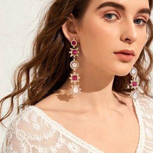 Fashion jewelry Baroque long diamond earrings retro personality crystal tassel earrings NHNZ217164's discount tags