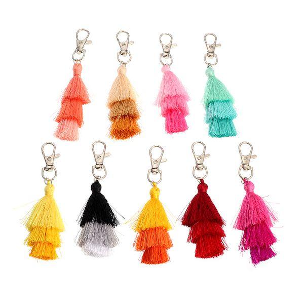 fashion Bohemian national wind multi-layer tassel key chain bag accessories pendant NHNZ217169