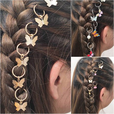 Fashion headdress personalized street shooting braid trend headdress butterfly DIY pendant hair accessories hair clip NHNZ217171's discount tags