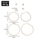 Bijoux de mode personnalit sauvage gomtrique boucles d39oreilles rondes temprament perle boucles d39oreilles ensemble NHNZ217174