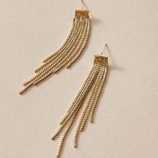 Fashion jewelry super fairy temperament wild long chain elegant tassel earrings  NHNZ217180's discount tags