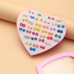 36 pairs earrings set multi-element alloy painting oil earrings set sun love butterfly earrings earrings jewelry NHNZ217185's discount tags