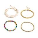 fashion jewelry fresh mixed color bead velvet cloth handmade jewelry wild ocean wind shell adjustment bracelet NHXR217201