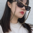 fashion jewelry geometric singlelayer chain accessories retro handmade flannel winding glasses chain NHXR217209