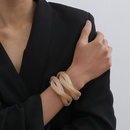 jewelry hiphop metal geometric personality metal jewelry exaggerated hollow ring cross bracelet NHXR217218