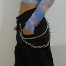 Fashion jewelry retro hiphop tassel cold wind body chain female tooling punk metal waist chain NHXR217221
