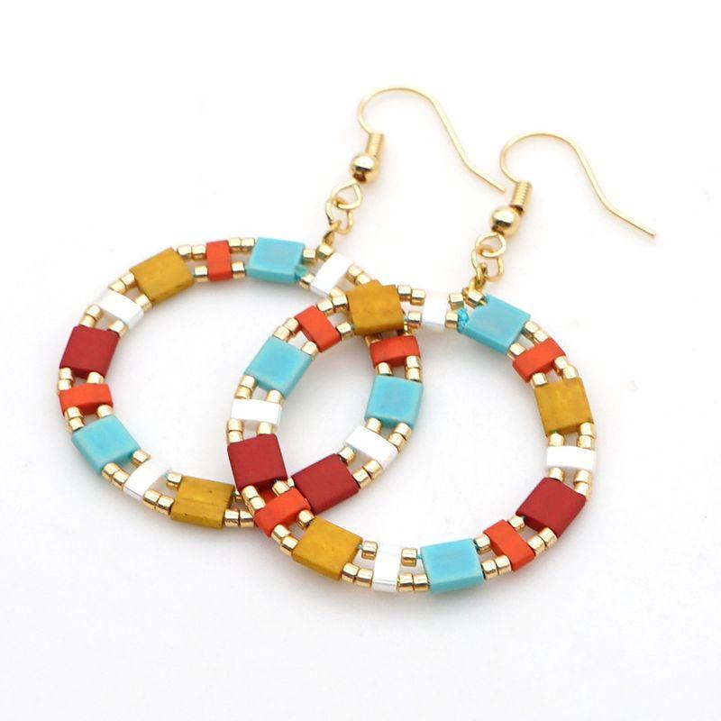fashion bohemian earrings Miyuki tila beaded national wind earrings wholesale NHGW217250