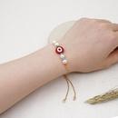 bracelet dt femelle simple naturel eau douce baroque perle maille mauvais globe oculaire ethnique protection contre le vent chane de couleur bote en gros NHGW217260