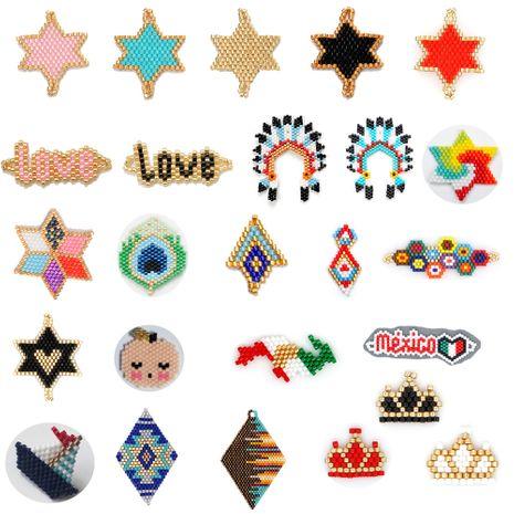 Moda Miyuki cuentas tejidas damas accesorios modelos geométricos modelos joyería al por mayor NHGW217265's discount tags