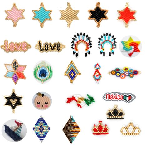 fashion Miyuki beads woven ladies accessories geometric pattern models jewelry wholesale NHGW217265's discount tags