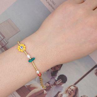 Cuentas de arroz Miyuki cuentas de sandía de perlas naturales tejidas a mano cristal pequeña pulsera cuerda de amistad NHGW217268's discount tags