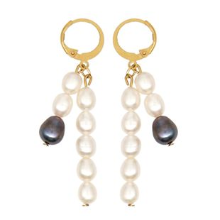 Pearls natural freshwater baroque black and white pearl temperament women's  earrings  bohemian ethnic style jewelry NHGW217270's discount tags