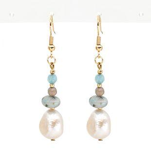 Pearls natural freshwater baroque pearl  earrings bohemian ethnic wind earring women NHGW217272's discount tags