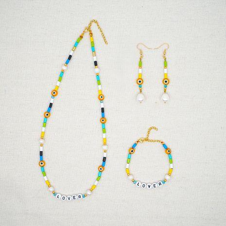 vidrio mal de ojo estilo étnico Perlas hechas a mano natural agua dulce barroco perlas joyas al por mayor NHGW217276's discount tags