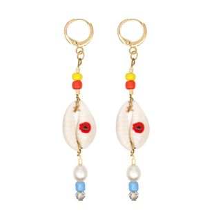 Summer  Sea Bohemia Pearls Natural Freshwater Baroque Pearl Shell National Wind Earrings NHGW217281's discount tags