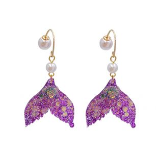fashion item jewelry wholesale diamond fishtail pearl earrings wholesale  NHVA217302's discount tags