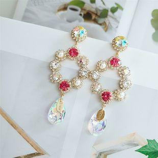 trend retro earrings new fashion pearl flower earrings wholesale NHVA217305's discount tags