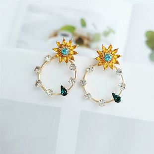 fashion earrings earrings accessories round flower temperament earrings wholesale NHVA217306's discount tags