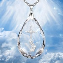 explosion of crystal cross necklace original temperament water drop pendant necklace men and women neck chain Christian accessories NHDP217323