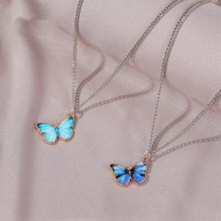 Fashion butterfly necklace personality simple pendant girlfriends Mori couple clavicle chain wholesale NHDP217324's discount tags