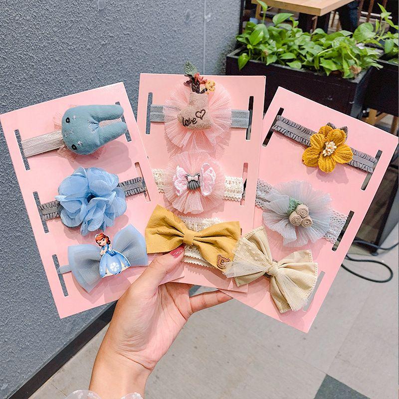 Baby hair band cute baby bow elastic headband lace hair band children's accessories headband Korean hair accessories NHNA217352
