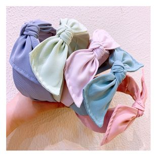 Korean designer plain plain bowknot wide-sided wild small fragrance wind headband hairpin jewelry wholesale NHHD217367's discount tags