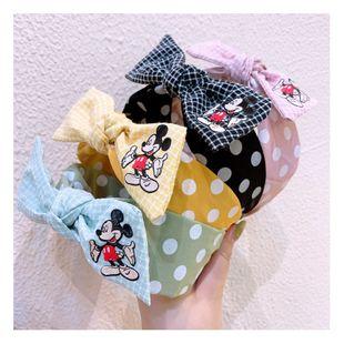 Korean fashion retro polka dot original hairband oversized bow plaid cartoon headband pressure hair accessories hairpin NHHD217368's discount tags