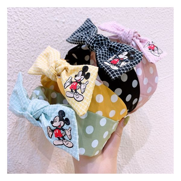Korean fashion retro polka dot original hairband oversized bow plaid cartoon headband pressure hair accessories hairpin NHHD217368