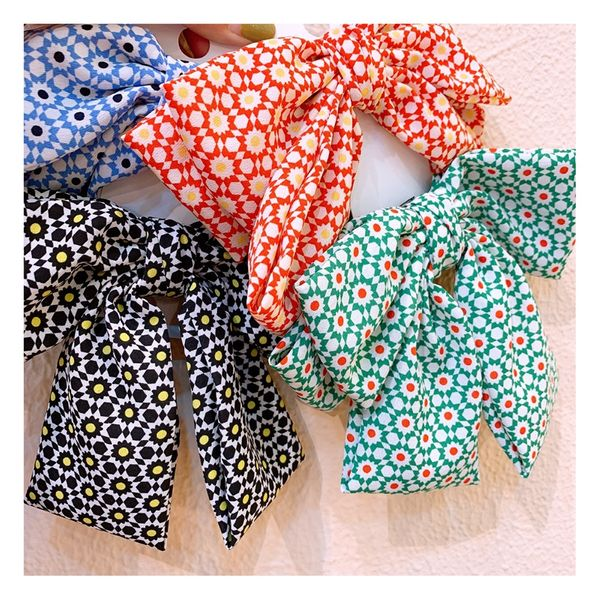 Korea new small floral lady temperament double bowknot fashion wild hair clip top clip wholesale NHHD217369