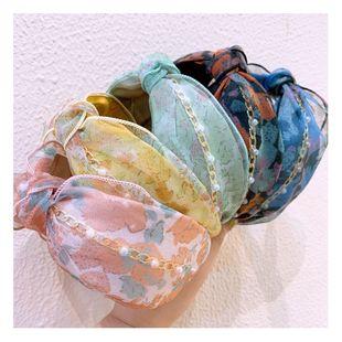 Korea headdress floral art fresh broad-brimmed twisted headband wild headband out pressure hair bundle wholesale NHHD217370's discount tags